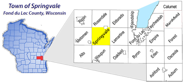 Town Springvale & Fond du Lac County Map